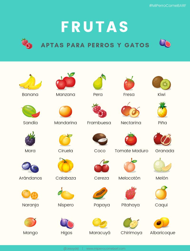 frutas aptas para perros y gatos