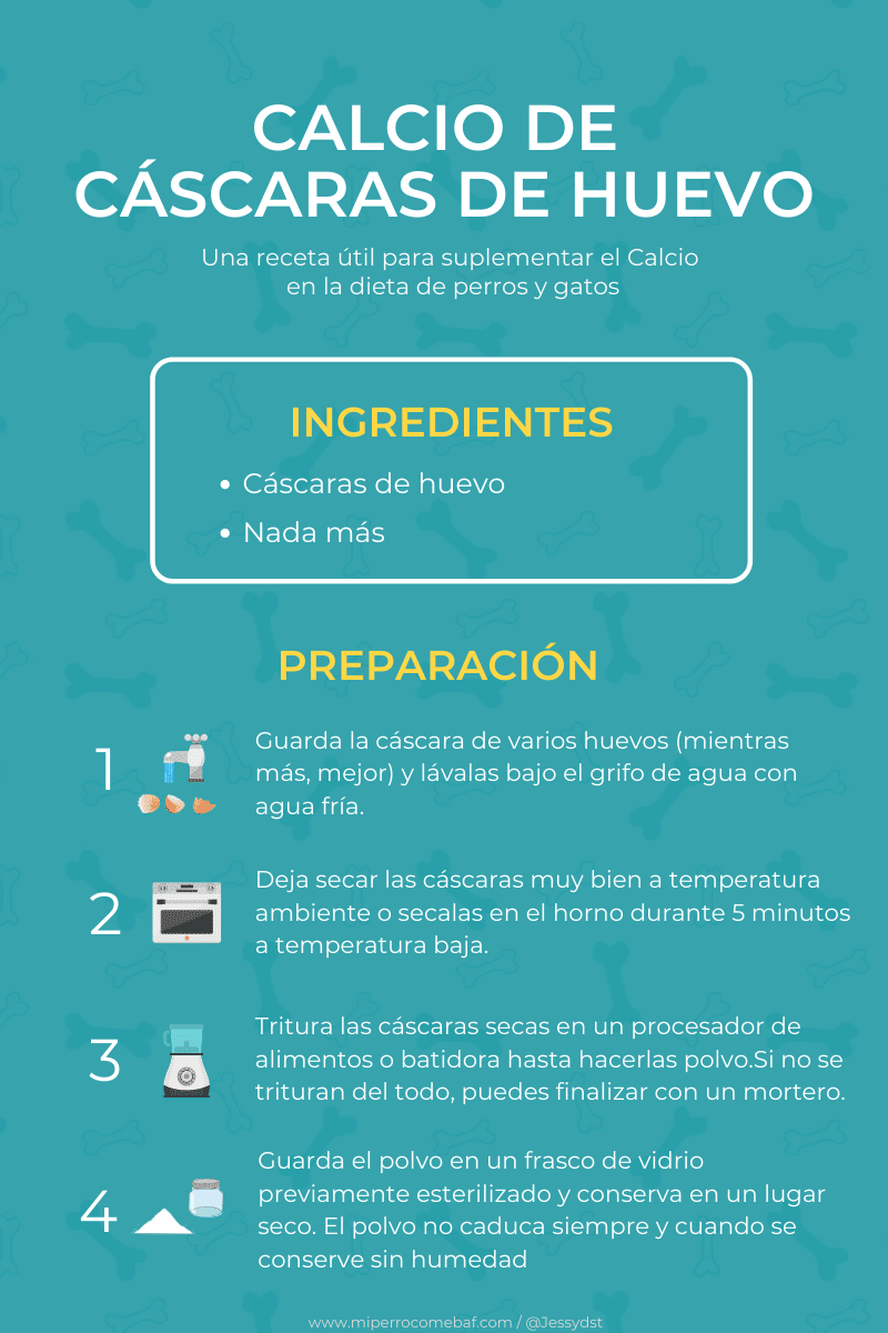 receta de calcio de cascaras de huevo